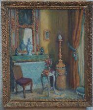 """""""DECORATION INTERIEURE DE SALON"""" Peinture s/bois encadrée non-signée début 1900"""