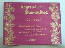 Islamic Canvas Hand Painted Arabic Calligraphy-Wedding/engagement Canvas 30x40cm