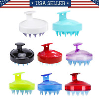 Silicone Shampoo Scalp Shower Body Washing Hair Massage Massager Brush Comb