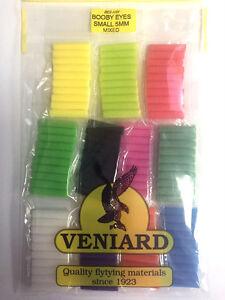 Veniard Booby Eye Foam Cylinders Mixed - Small/Medium/Large For Flytying/Craft