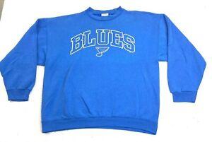 Vintage 90s Tultex St. Louis Blues Sweatshirt Fader Graphic Print Size XL