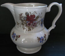 """VINTAGE 5"""" LORD NELSON POTTERY PITCHER/MADE ENGLAND/BLUE/PINK & RED FLORAL ROSES"""