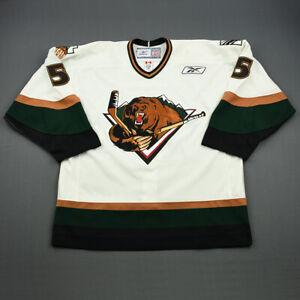2010-11 Jon Gleed Utah Grizzlies Game Used Worn ECHL Hockey Jersey MeiGray