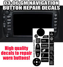 03-05 GM GMC CADILLAC NAVIGATION RADIO Button Repair Decals Stickers
