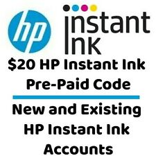 $20 HP Instant Ink PrePaid Code New & Existing HP Instant Ink Accounts Pre-Paid