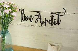 Bon Appetit Metal Sign, Farmhouse Decor, Kitchen, Housewarming Gift