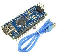 USB Nano V3.0 ATmega328 16M 5V Micro-controller CH340G board Arduino Cable SALE
