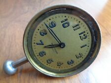 Vintage Antique Waltham 8 days Car Automobile Wind Up Short Stem Dash Clock