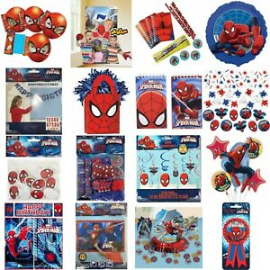Marvel Ultimate Spiderman Kids Birthday Party Favors Game Decorations Tableware