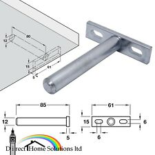 4 X HAFELE CONCEALED SHELF FLOATING SUPPORT BRACKETS WITH SCREW MOUNTING PLATE