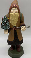 "House of Hatten Carved Santa 14"" Tall Figure 1996 As Is"