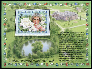 Montserrat Royalty Stamps 1998 MNH Princess Diana Famous People 1v M/S