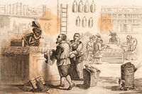 Caricature Directoire Directeur Révolution Française Les Cinq Singes Monkey 1858