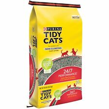 Purina Tidy Non-Clumping Cat Litter 24/7 Performance for Multiple Cats 30lb NEW