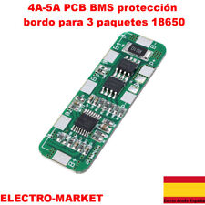 4A-5A PCB BMS protección bordo para 3 paquetes 18650 Li-ion batería de litio 3S