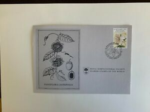 SURINAME 1981 MAXI CARD FLOWERS OF WORLD PASSIFLORA LAURIFOLIA PASSION FAMILY