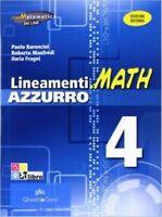 LINEAMENTI.MATH 4, BARONCINI, MANFREDI, GHISETTI E CORVI, CODICE 9788853804358