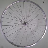 28 Zoll Fahrrad Vorderrad Hohlkammerfelge YAK19 silber mit Vollachse NEU