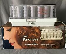 Clairol Kindness 3 Way Hairsetter Hot Rollers Curlers Mist Pageant Cheer VTG