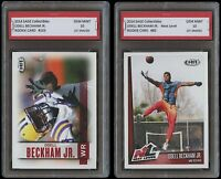 ODELL BECKHAM JR. 2014 / 14' Sage 1ST GRADED 10 ROOKIE CARD RC (2 LOT) NY GIANTS