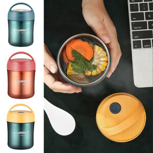 Thermos Food Flask 500ml Stainless Steel Vacuum Insulated Soup Jar with Handle