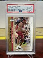 2003 Upper Deck Phenomenal Beginning Gold /100 Lebron James RC PSA 10 GEM MINT