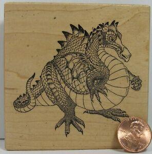 """Dragon Rubber Stamp PSX G-1137 1995 Dragon 3 X 3""""   BB7"""