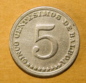 Panama 5 Centesimos 1929 Very Fine / Extremely Fine Coin