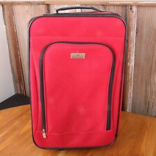"""Protege Red Lightweight Rolling 20"""" Suitcase Luggage Carryon"""
