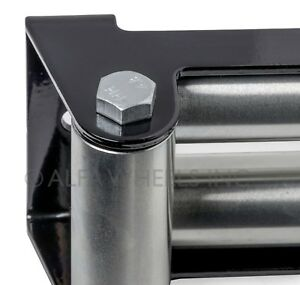 """Super Heavy Duty Winch Roller Fairlead 10"""" Universal 4 Way Roller Cable Guide"""