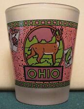 STATE OF OHIO   THE BUCKEYE STATE         SHOT GLASS