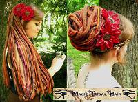 DREADLOCKS Tribal Fusion GIPSY yarn DREAD hair FALL Medieval Cosplay BELLY DANCE