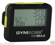 GYMBOSS miniMAX INTERVAL TIMER & STOPWATCH BLACK YELLOW SOFTCOAT  FR GYMBOSS HQ