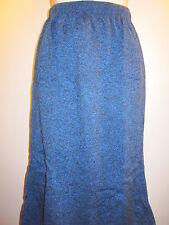 Nos Vintage New Wave Black Blue Heather Winter Knit Sweater Skirt USA Retro M