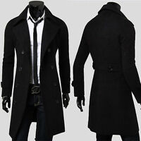 CHEAP Men's Fashion Coat Trench Double-breasted Coat Jacket Winter Overcoat Long