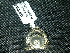 Sterling Silver Cancer Crab pendant charm or pendant New