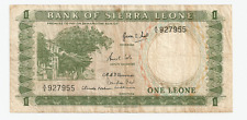 1964 Bank of Sierra Leone One Leones  Paper Money ~ Prefix A/5