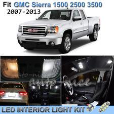 For 2007-2013 GMC Sierra 1500 2500 3500 Luxury White Interior LED Lights Kit 13