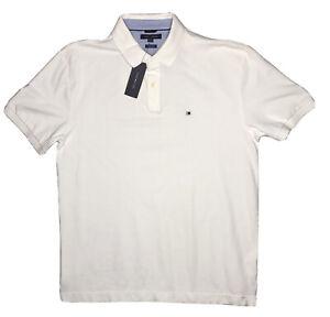 NEW Tommy Hilfiger Polo Shirt Men's XXL White Custom Fit Cotton Golf NWT