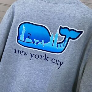 Adult Short-Sleeve NYC Skyline Whale Fill T-Shirt Gray Men's Size XL