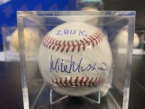 MIKE MUSSINA SIGNED BASEBALL NEW YORK YANKEES ORIOLES HALL OF FAME W/JSA PITCHER