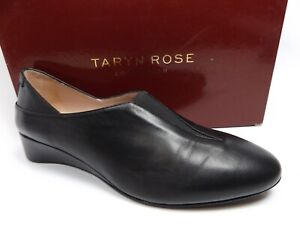 TARYN ROSE CARMELA NAPPA PUMP WHOMEN'S SZ 8.0 M BLACK LEATHER COMFORT SHOES *113