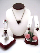 "Brighton ""ST MICHEL"" Heart Necklace-Earring-Bracelet Set (MSR$194) NWT/Pouch"