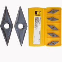 10Pcs Kennametal VNMG160404MS KC5010 VNMG331MS KC5010 CNC Carbide inserts New