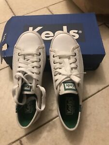 New Keds White Leather Sneakers Size 5