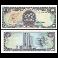 Trinidad and Tobago 10  Dollar, ND(1985), P-38d, UNC