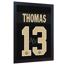 Michael Thomas New Orleans Saints NFL signed shirt printed on CANVAS FRAMED