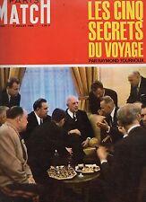 paris match n°900 de gaulle URSS brejnev zorine gromyko 1966
