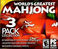 World's Greatest Mahjong: 3 Pack Collection PC DISC ONLY NO CASE NO ART UNUSED