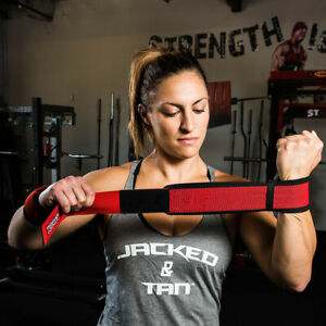 Sling Shot STretchy Wrist Wraps by Mark Bell - Elastic weight lifting supports